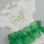 Golf Sparkly  Girl outfit