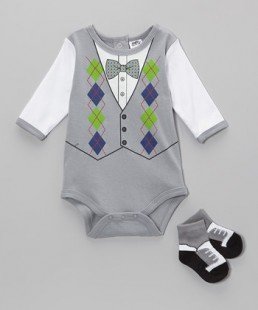 grey argyle set boy